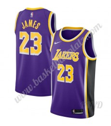 Los Angeles Lakers Trikot Kinder 2019-20 LeBron James 23# Lila Replica Statement Edition NBA Trikots..