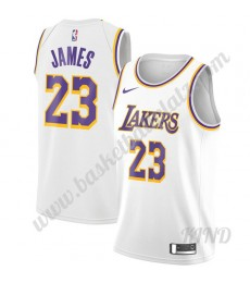 Los Angeles Lakers Trikot Kinder 2019-20 LeBron James 23# Weiß Association Edition NBA Trikots Swing..