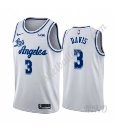 Los Angeles Lakers Trikot Kinder 2019-20 Anthony Davis 3# Weiß Classics Edition NBA Trikots Swingman..