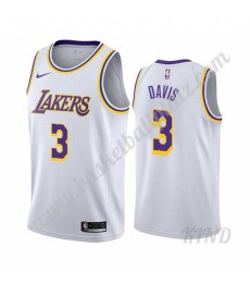 Los Angeles Lakers Trikot Kinder 2019-20 Anthony Davis 3# Weiß Association Edition NBA Trikots Swing..