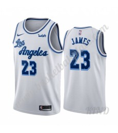 Los Angeles Lakers Trikot Kinder 2019-20 LeBron James 23# Weiß Classics Edition NBA Trikots Swingman..