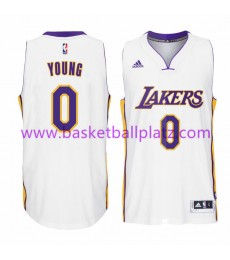 Los Angeles Lakers Trikot Herren 15-16 Nick Young 0# Weiß Home Basketball Trikot Swingman