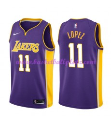 Los Angeles Lakers Trikot Herren 2018-19 Brook Lopez 11# Statement Edition Basketball Trikots NBA Sw..
