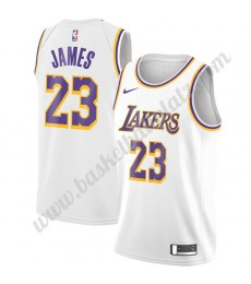 Los Angeles Lakers Trikot Herren 2019-20 LeBron James 23# Weiß Association Edition Basketball Trikot..