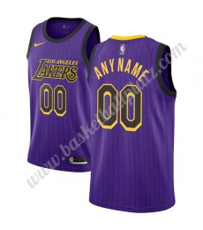 Los Angeles Lakers Trikot Herren 2019-20 Lila City Edition Basketball Trikots NBA Swingman..