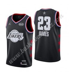 Los Angeles Lakers Trikot Herren 2019 Lebron James 23# Schwarz All Star Game Basketball Trikots Swin..