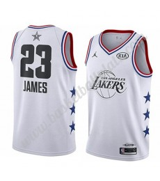 Los Angeles Lakers Trikot Herren 2019 Lebron James 23# Weiß All Star Game Basketball Trikots Swingma..