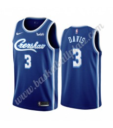Los Angeles Lakers Trikot Herren 2019-20 Anthony Davis 3# Blau Classics Edition Basketball Trikots N..