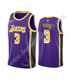 Los Angeles Lakers Trikot Herren 2019-20 Anthony Davis 3# Lila Statement Edition Basketball Trikots ..