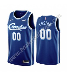 Los Angeles Lakers Trikot Herren 2019-20 Blau Classics Edition Basketball Trikots NBA Swingman..