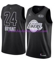 Los Angeles Lakers Trikot Herren Kobe Bryant 24# Schwarz 2018 NBA All Star Game Basketball Trikots Swingman