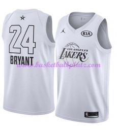 Los Angeles Lakers Trikot Herren Kobe Bryant 24# Weiß 2018 NBA All Star Game Basketball Trikots Swingman