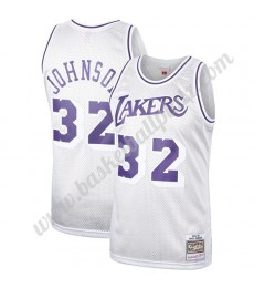 Los Angeles Lakers Trikot Herren Magic Johnson 32# Platinum Hardwood Classics Basketball Trikots NBA..
