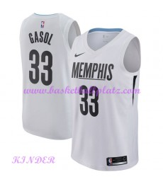 Memphis Grizzlies NBA Trikot Kinder 2018-19 Marc Gasol 33# City Edition Basketball Trikots Swingman..