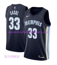 Memphis Grizzlies NBA Trikot Kinder 2018-19 Marc Gasol 33# Icon Edition Basketball Trikots Swingman..