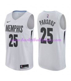 Memphis Grizzlies Trikot Herren 2018-19 Chandler Parsons 25# City Edition Basketball Trikots NBA Swi..