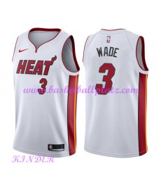 Miami Heat NBA Trikot Kinder 2018-19 Dwyane Wade 3# Association Edition Basketball Trikots Swingman..