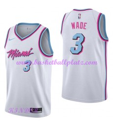 Miami Heat NBA Trikot Kinder 2018-19 Dwyane Wade 3# City Edition Basketball Trikots Swingman