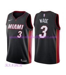Miami Heat NBA Trikot Kinder 2018-19 Dwyane Wade 3# Icon Edition Basketball Trikots Swingman