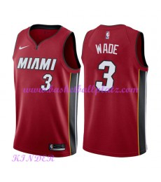 Miami Heat NBA Trikot Kinder 2018-19 Dwyane Wade 3# Statement Edition Basketball Trikots Swingman