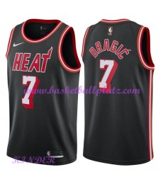 Miami Heat NBA Trikot Kinder 2018-19 Goran Dragic 7# Schwarz Hardwood Classics Basketball Trikots Sw..