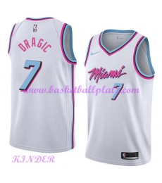 Miami Heat NBA Trikot Kinder 2018-19 Goran Dragic 7# City Edition Basketball Trikots Swingman..