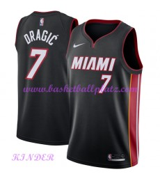 Miami Heat NBA Trikot Kinder 2018-19 Goran Dragic 7# Icon Edition Basketball Trikots Swingman..