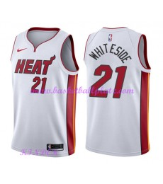 Miami Heat NBA Trikot Kinder 2018-19 Hassan Whiteside 21# Association Edition Basketball Trikots Swi..