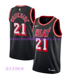 Miami Heat NBA Trikot Kinder 2018-19 Hassan Whiteside 21# Schwarz Hardwood Classics Basketball Triko..