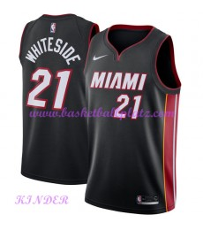 Miami Heat NBA Trikot Kinder 2018-19 Hassan Whiteside 21# Icon Edition Basketball Trikots Swingman..