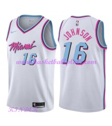 Miami Heat NBA Trikot Kinder 2018-19 James Johnson 16# City Edition Basketball Trikots Swingman..