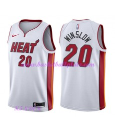 Miami Heat NBA Trikot Kinder 2018-19 Justise Winslow 20# Association Edition Basketball Trikots Swin..