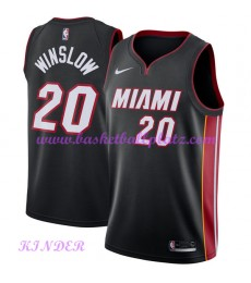 Miami Heat NBA Trikot Kinder 2018-19 Justise Winslow 20# Icon Edition Basketball Trikots Swingman..