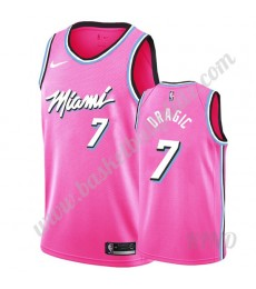 Miami Heat Trikot Kinder 2019-20 Goran Dragic 7# Rosa Earned Edition NBA Trikots Swingman..