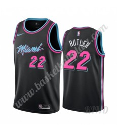 Miami Heat Trikot Kinder 2019-20 Jimmy Butler 22# Schwarz City Edition NBA Trikots Swingman..