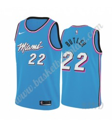 Miami Heat Trikot Kinder 2019-20 Jimmy Butler 22# Blau City Edition NBA Trikots Swingman..