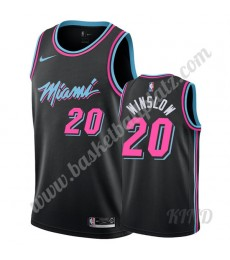 Miami Heat Trikot Kinder 2019-20 Justise Winslow 20# Schwarz City Edition NBA Trikots Swingman..