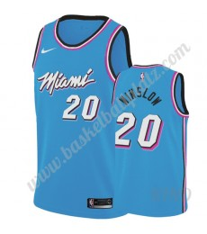 Miami Heat Trikot Kinder 2019-20 Justise Winslow 20# Blau City Edition NBA Trikots Swingman..