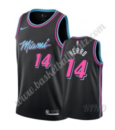 Miami Heat Trikot Kinder 2019-20 Tyler Herro 14# Schwarz City Edition NBA Trikots Swingman..