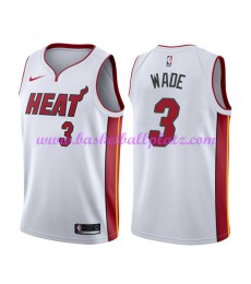 Miami Heat Trikot Herren 2018-19 Dwyane Wade 3# Association Edition Basketball Trikots NBA Swingman..