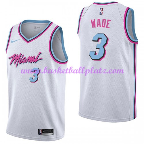 reputable site f13b5 0aaca Miami Heat Trikot Herren 2018-19 Dwyane Wade 3# City Edition ...