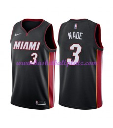 Miami Heat Trikot Herren 2018-19 Dwyane Wade 3# Icon Edition Basketball Trikots NBA Swingman..