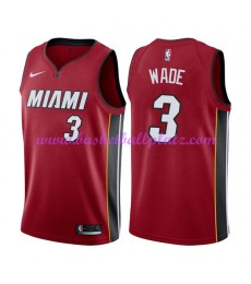 Miami Heat Trikot Herren 2018-19 Dwyane Wade 3# Statement Edition Basketball Trikots NBA Swingman..