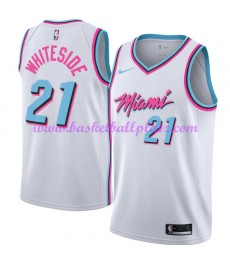 Miami Heat Trikot Herren 2018-19 Hassan Whiteside 21# City Edition Basketball Trikots NBA Swingman..