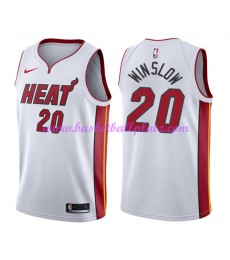 Miami Heat Trikot Herren 2018-19 Justise Winslow 20# Association Edition Basketball Trikots NBA Swin..