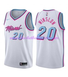 Miami Heat Trikot Herren 2018-19 Justise Winslow 20# City Edition Basketball Trikots NBA Swingman..