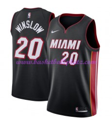 Miami Heat Trikot Herren 2018-19 Justise Winslow 20# Icon Edition Basketball Trikots NBA Swingman..