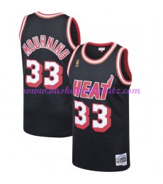 Miami Heat Herren 1996-97 Alonzo Mourning 33# Schwarz Hardwood Classics Basketball Trikots NBA Swing..