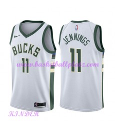 Milwaukee Bucks NBA Trikot Kinder 2018-19 Brandon Jennings 11# Association Edition Basketball Trikot..