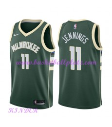 Milwaukee Bucks NBA Trikot Kinder 2018-19 Brandon Jennings 11# Icon Edition Basketball Trikots Swing..
